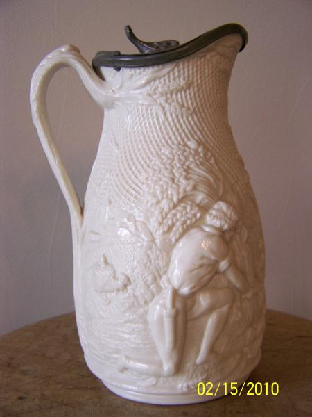 Molded pattern, Parian pitcher(pordelain)Ca. 11/11/1858