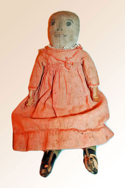 Little Happy Doll, American Cloth c1900