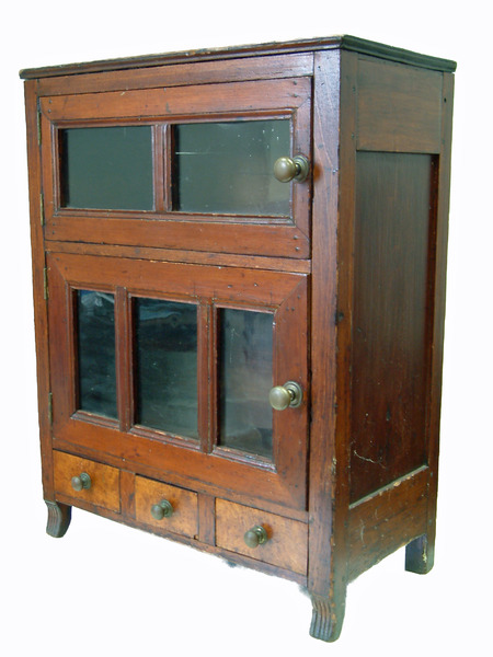 Early Table Top Cupboard - Jelly Cupboard - Dig Antiques
