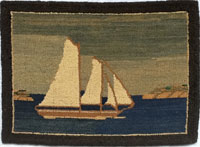 Grenfell rug with boat