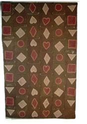 Folk Art Table Mat with hearts